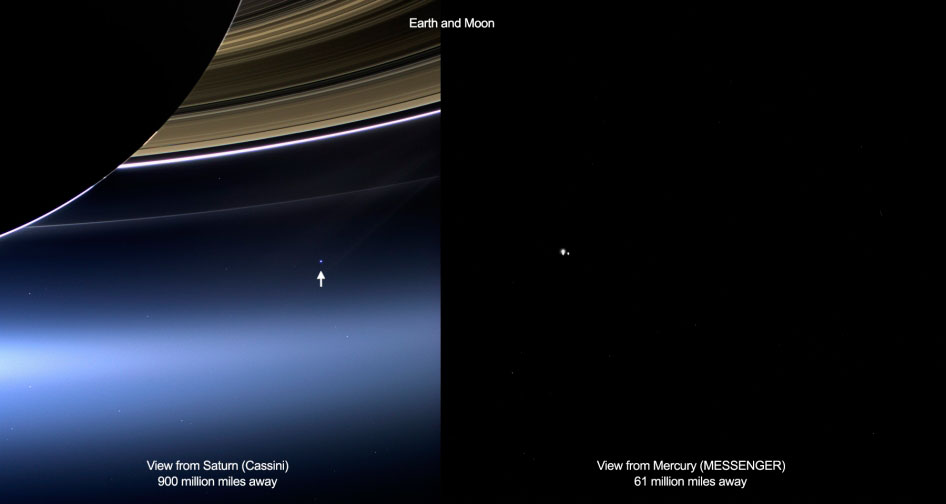 Cassini view of Earth1