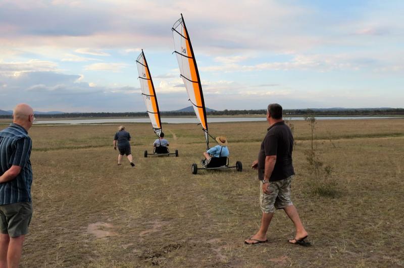sailing on the drying lake